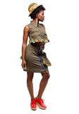Semi Peplum Army Skirt