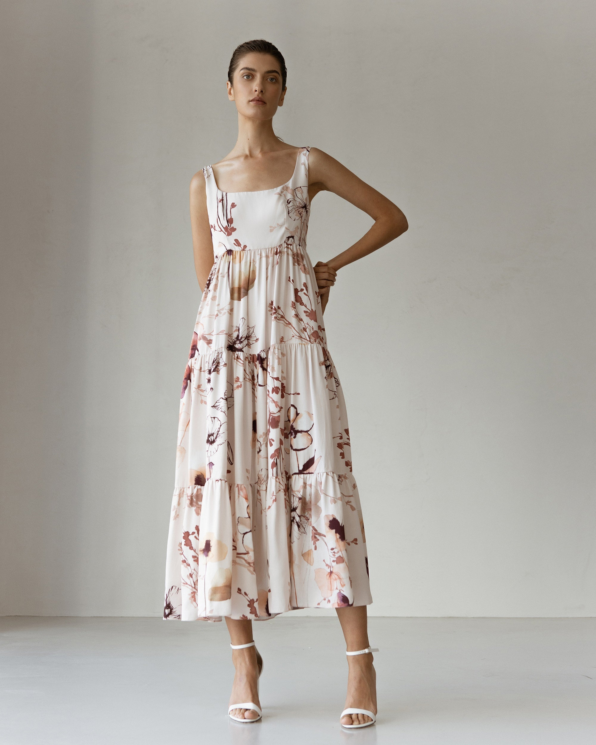 Fiona Viscose Printed Midi Sundress