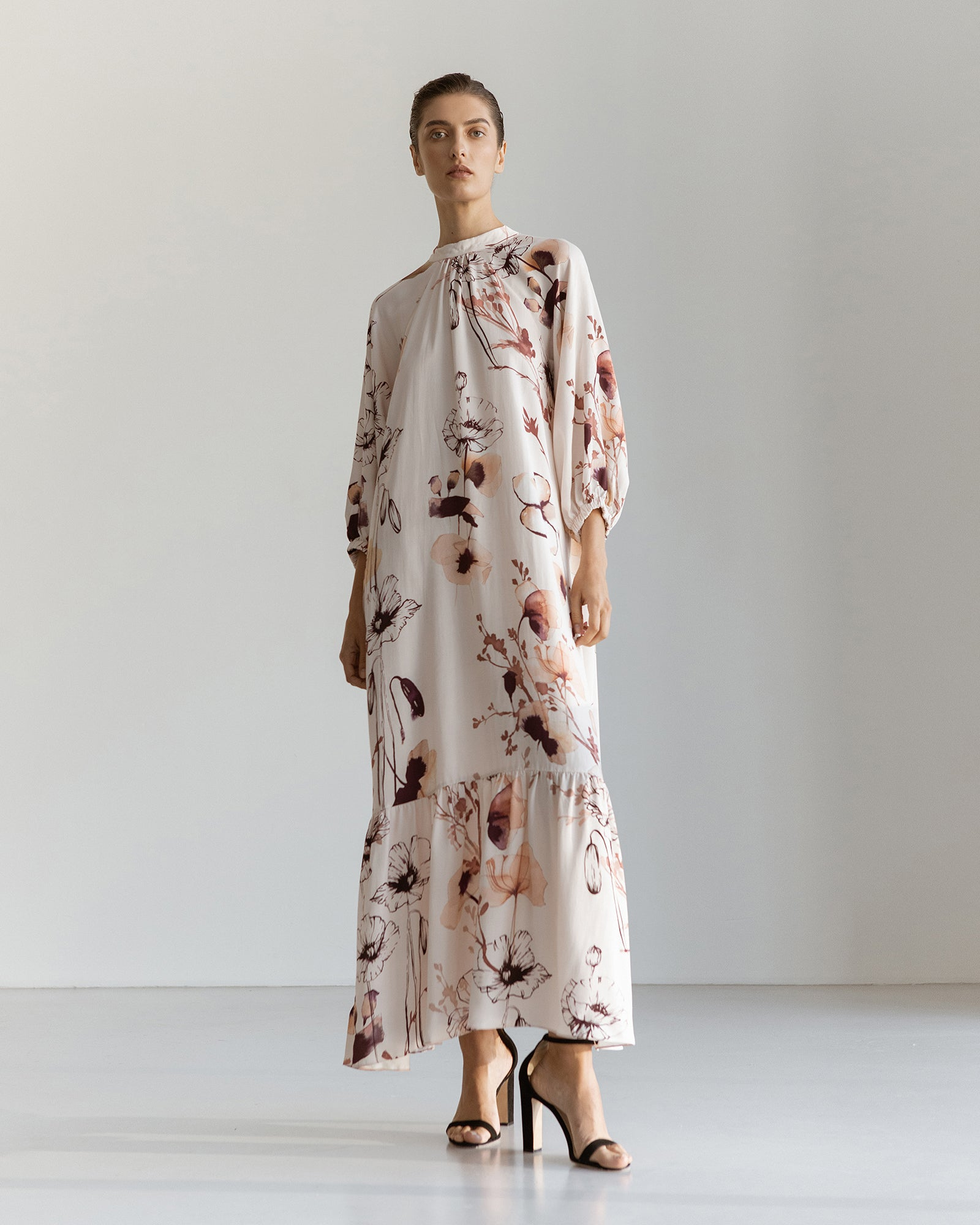 Lidia Viscose Printed Midi Dress