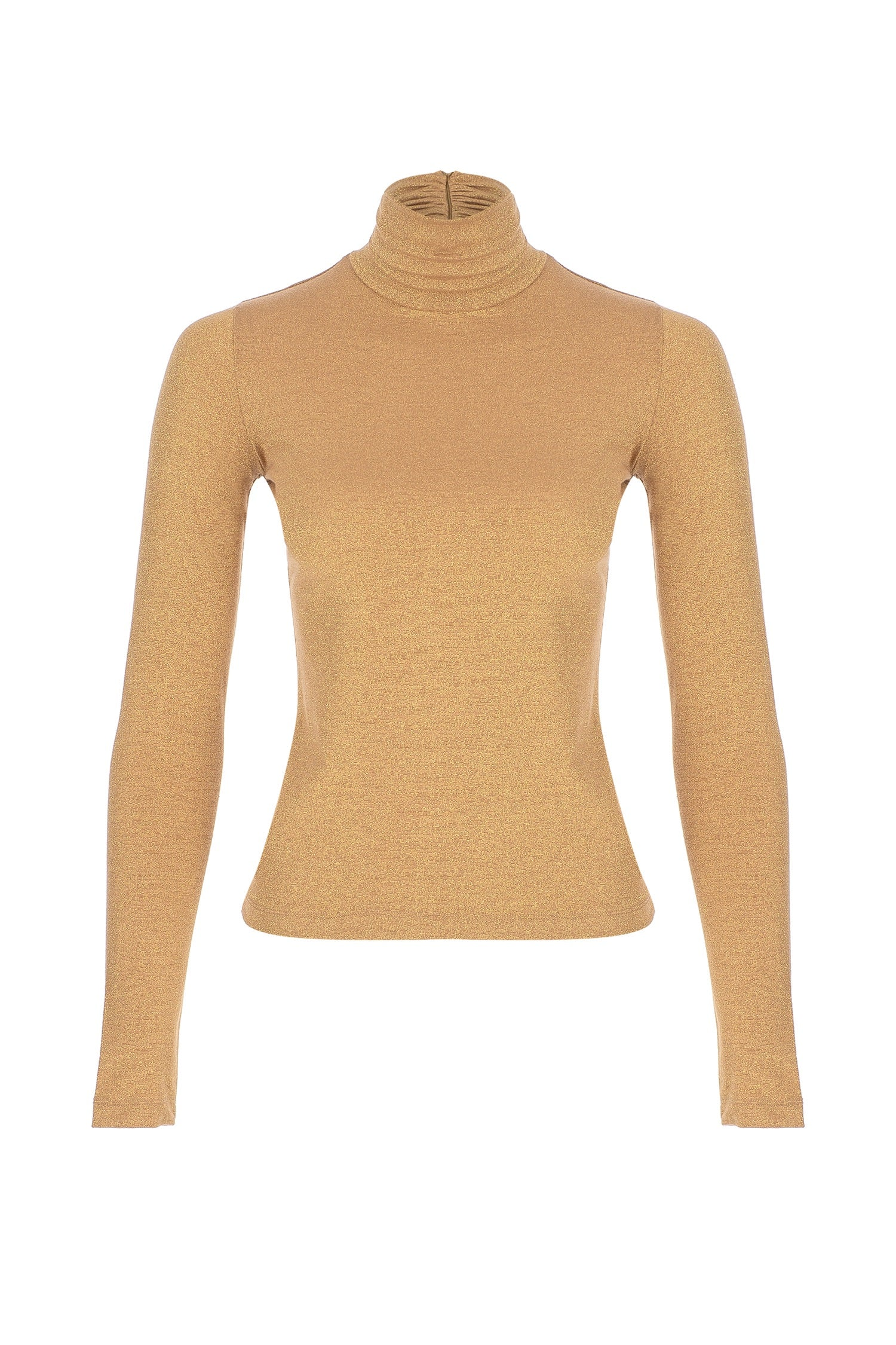 Knitted Lurex Turtleneck