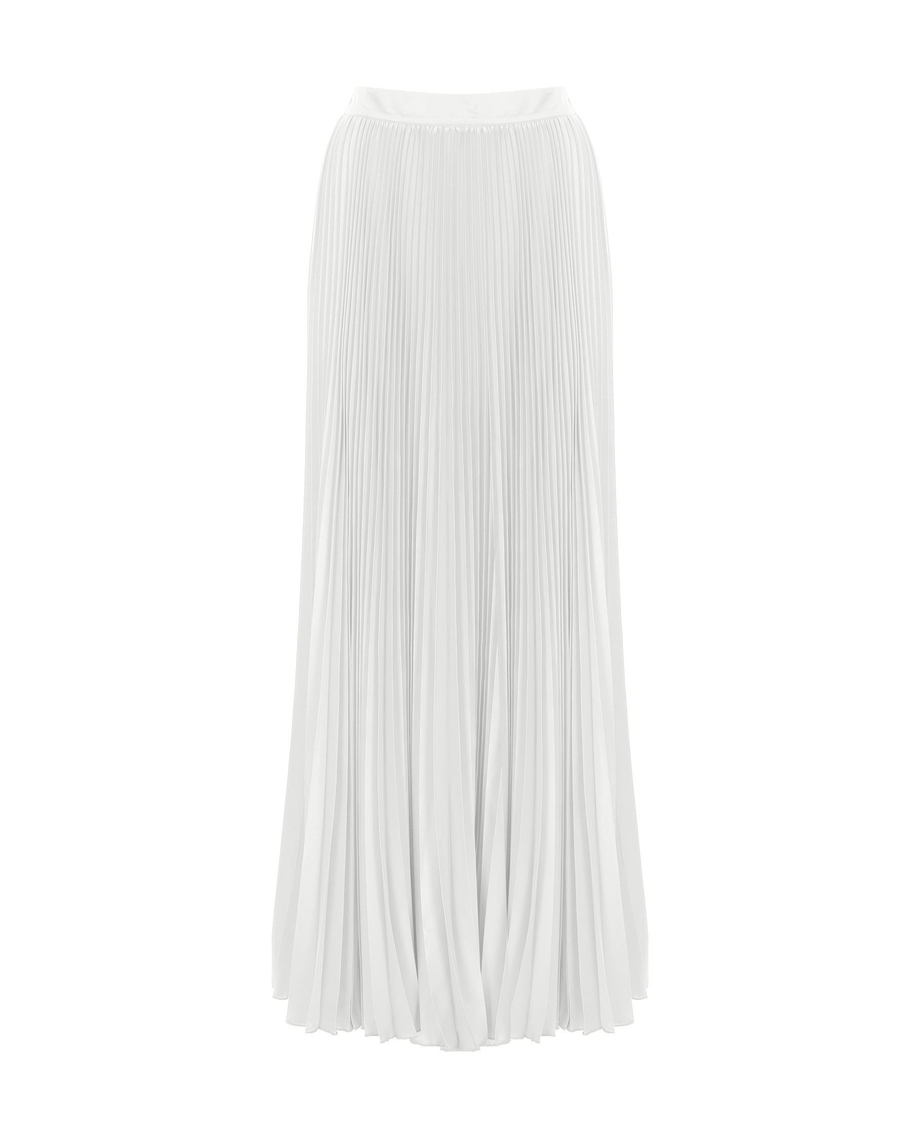 Emma Pleated Satin Midi Skirt