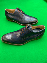 Load image into Gallery viewer, Shoes - Semi Brogue Derby - NAVY