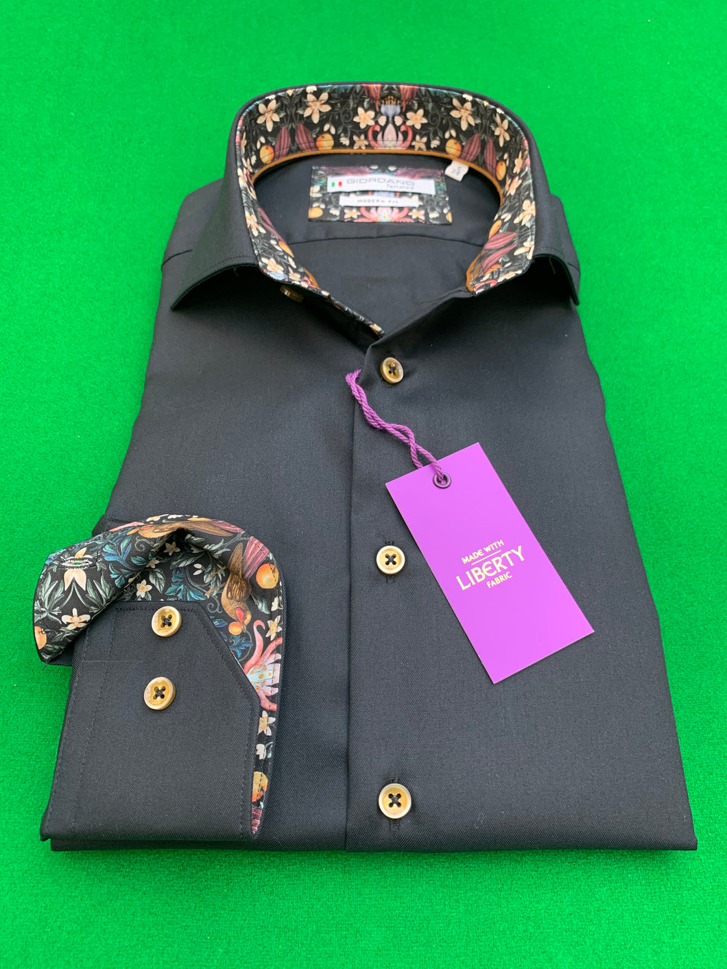 Shirts - Forbidden Fruit Liberty Print Shirt - Black
