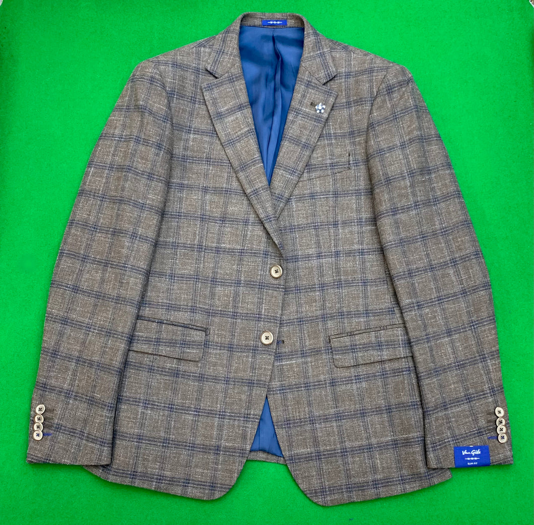 Jackets - Van Gils - Fawn and Blue Check