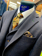 Load image into Gallery viewer, Waistcoat - Van Gils - Navy and Brown Houndstooth