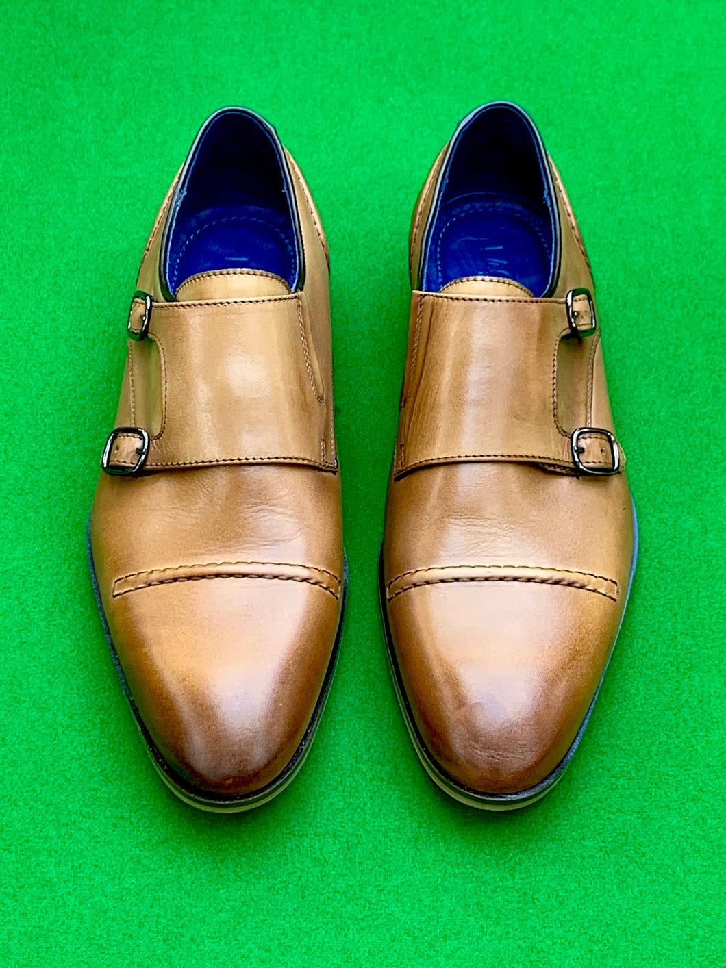 Shoes - Double Monk Strap - TAN