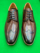 Load image into Gallery viewer, Shoes - Semi Brogue Derby - BROWN