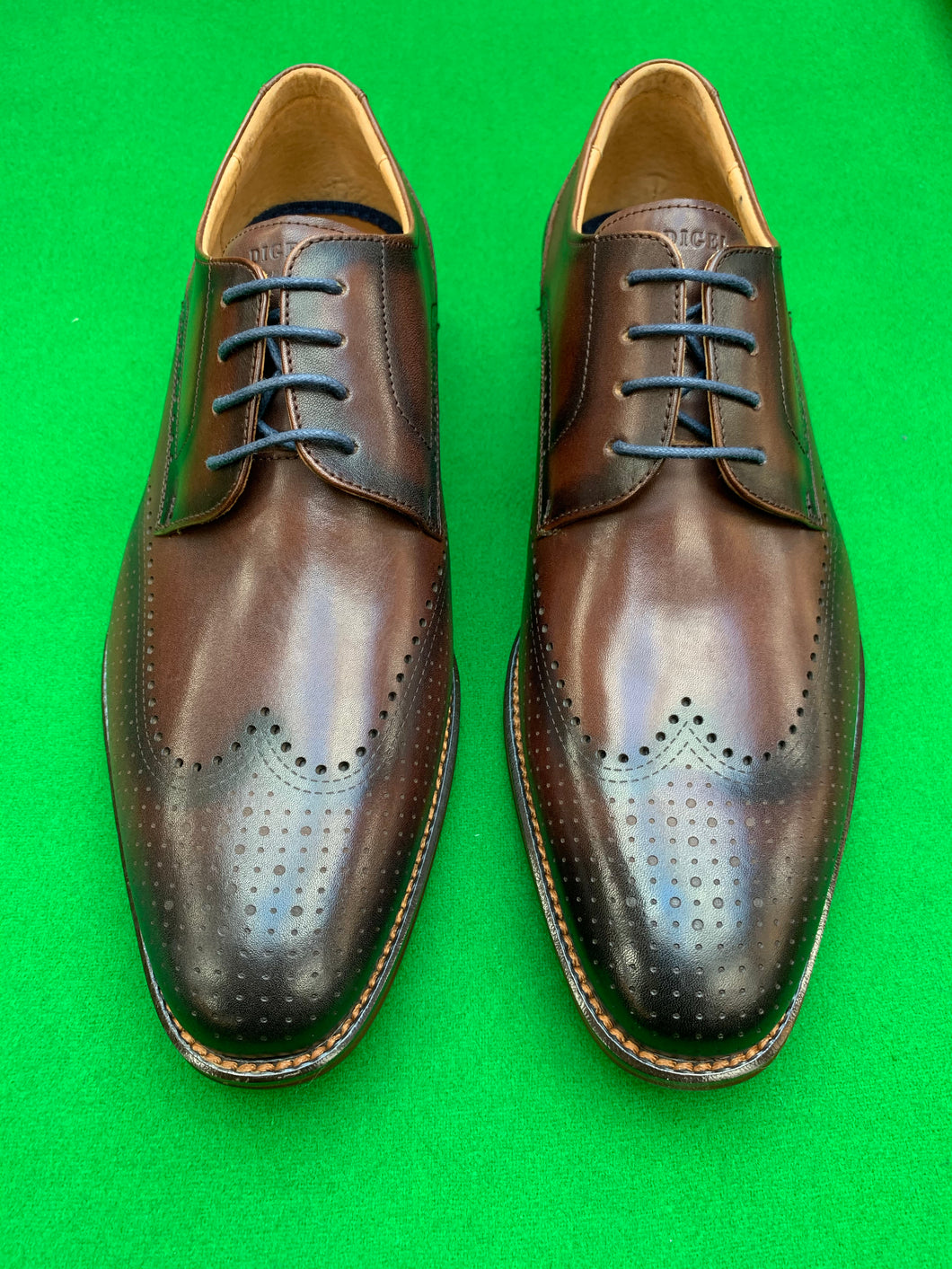 Shoes - Semi Brogue Derby - BROWN