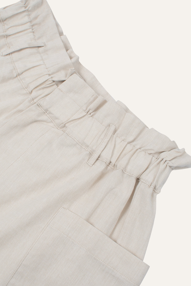 Aline Shorts Off White Linen