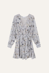 Skye Dress Winter Blossom Print Light Blue