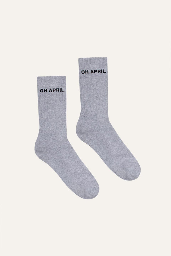 Steffi Socks OH APRIL Grey Melange