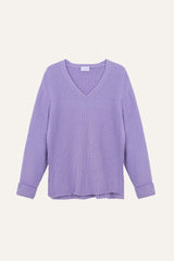Ida Slit Sweater Lilac