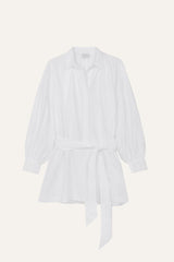 Maya Shirt Dress White