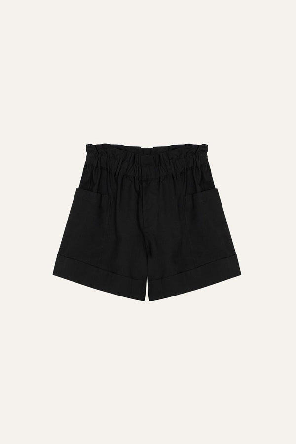 Aline Shorts Black Linen