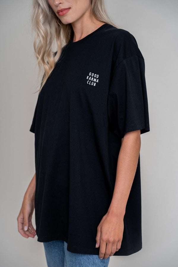 Good Karma Club Boyfriend Shirt Black (6013401170103)
