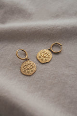 OA Karma Coin Earrings Gold