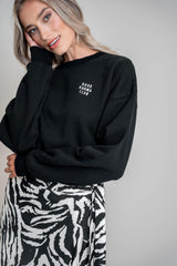 Good Karma Club Sweater Black (6013397958839)