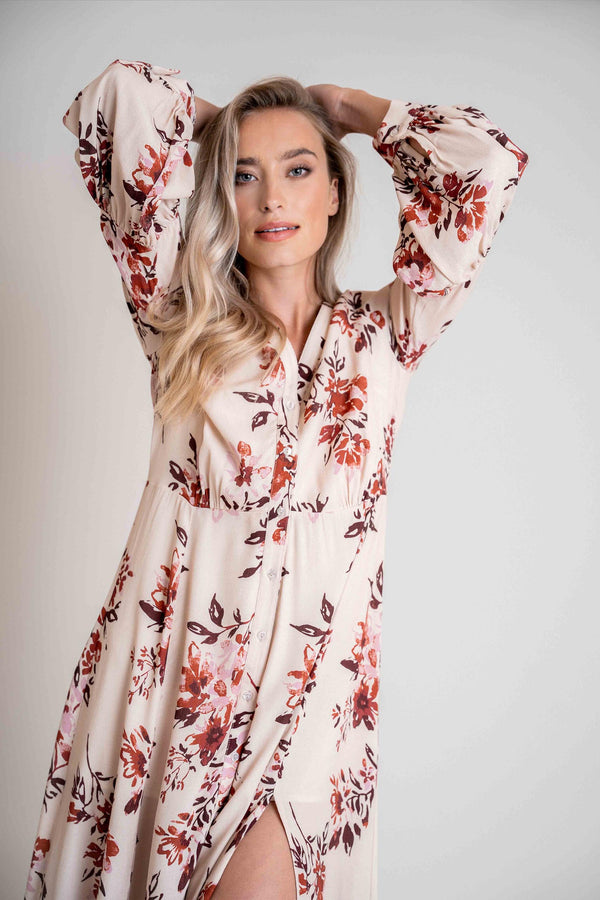 Sienna Dress Blush Flower Print
