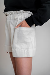 Aline Shorts Off White Linen (6013392388279)