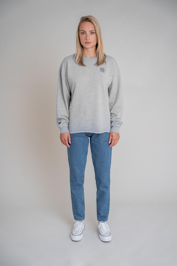 Good Karma Club Sweater Grey Melange (6013317021879)