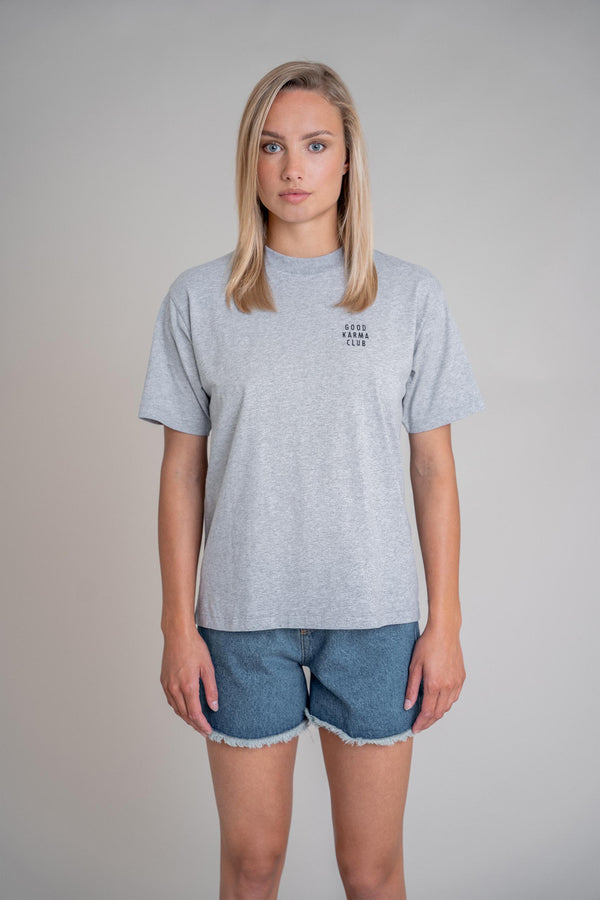 Good Karma Club Shirt Grey Melange (6013319119031)