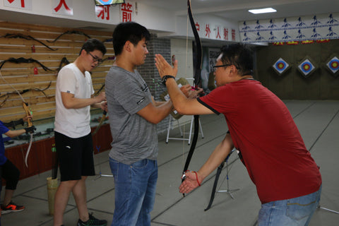 Training at our local archery range