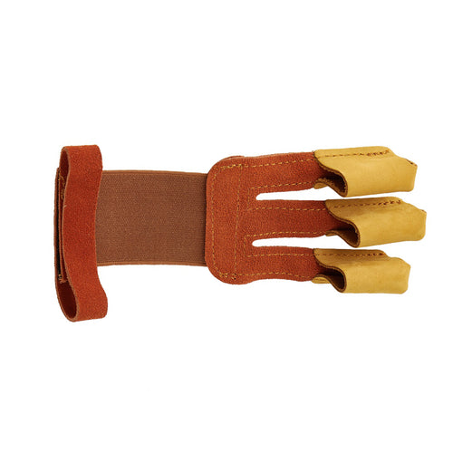Brown 3-finger Tab with Wrist Strap