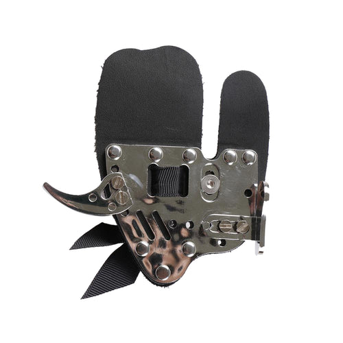 Black Leather Metal Finger Tab