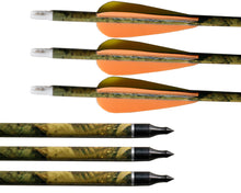 "Load image into Gallery viewer, 31"" 7.6mm Camouflage Mixed Carbon Arrows"
