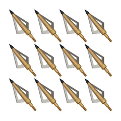 12Pack Huntingdoor Fixed 3-Blade Archery Broadheads 125 Grain Arrow Head Hunting