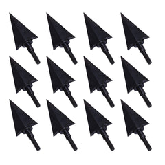 12PCs 115/195Grain Archery Broadheads 3D Target Hunting Metal Arrowheads Black Screw-in Replaceable