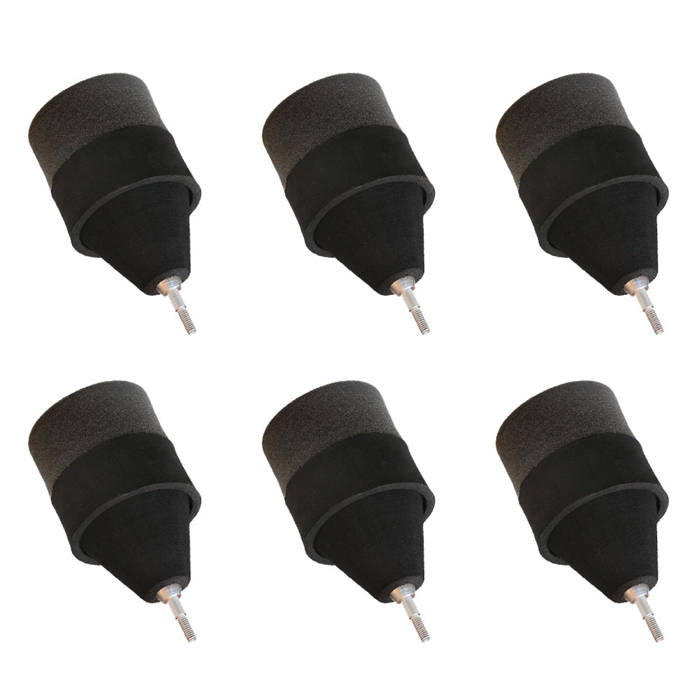 6x Black Sponge Foam Arrowheads