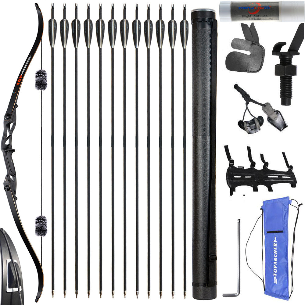 56 inch Takedown Bow Carbon Arrows Kit