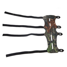Load image into Gallery viewer, Leather Archery Arm Guard Protector 4 Straps Protective Gear Hunting Shooting