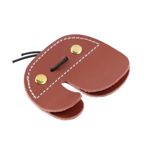 IRQ Archery Cow Leather Finger Tab Guard Protector Double Layer Hunting Bow Shooting Mediterranean Draw