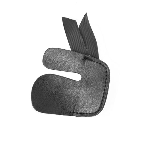 Leather Archery Finger Tab Finger Protector Black Mediterranean Draw