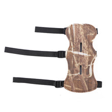 Load image into Gallery viewer, Camouflage Leather Shooting Archery Arm Guard Bow Protect 3 Straps