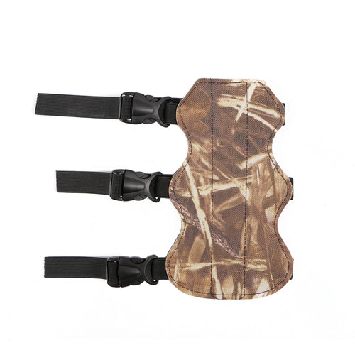 3 Straps Leather Shooting Archery Arm Guard Protector Camouflage
