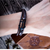 Peacocking Black Anchor Brown Leather Bracelet