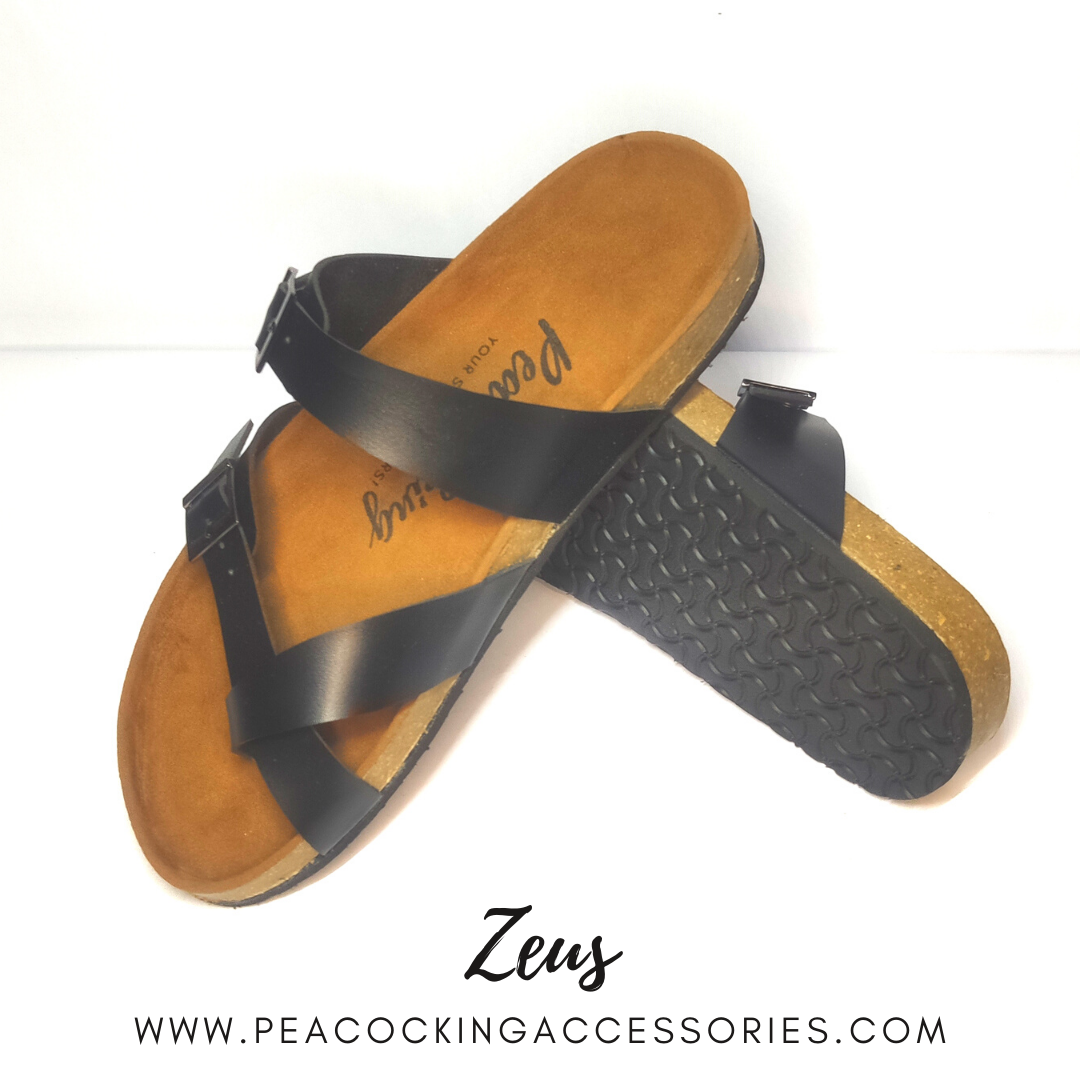 Peacocking Sandal Zeus - Black