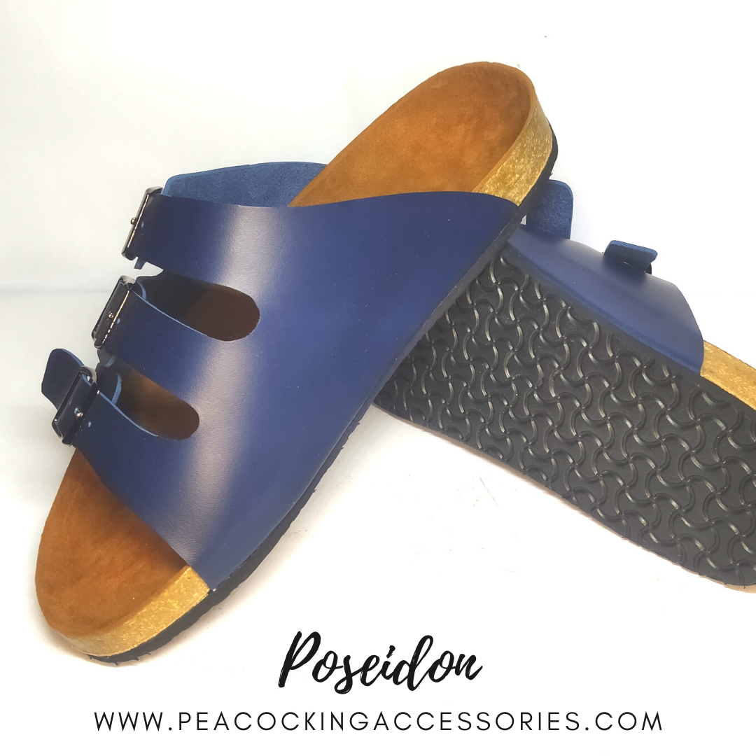 Peacocking Sandal Poseidon - Navy Blue