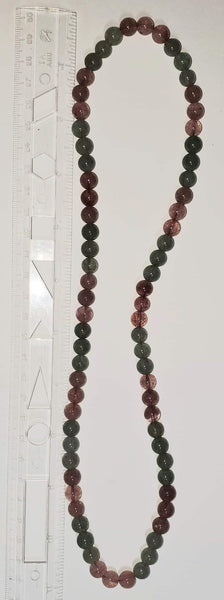 Strawberry and Green Quartz Necklace - Highland Rock