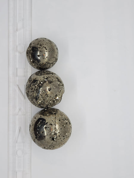 "1.5"" to 2.5"" Pyrite Spheres - Highland Rock"
