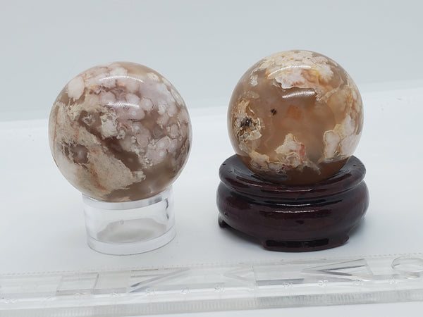 "2"" Flower Agate Spheres - Highland Rock"