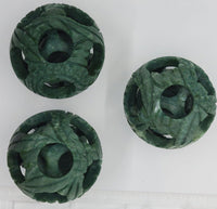 small spheres, top view