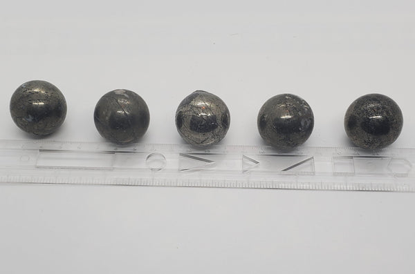 "1.25"" Pyrite Spheres - Highland Rock"
