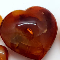 Carnelian, Heart-shaped, 2.5""