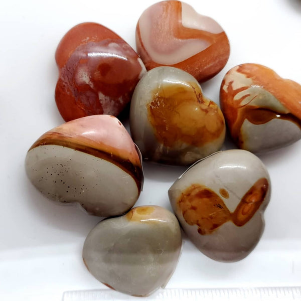 Polychrome Jasper, Heart-shaped