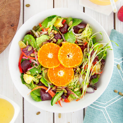 Citrus Detox Salad with Beets and Fresh Oranges-square view