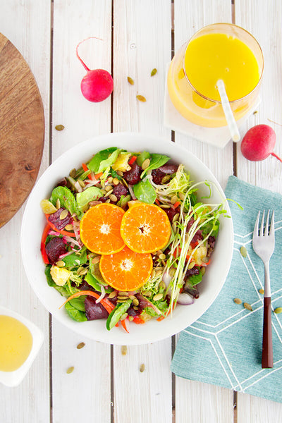 Citrus Detox Salad with Beets and Fresh Oranges-wide view